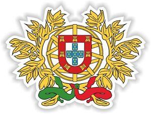 Portugal-coat-of-arms-Sticker-Bumper-Vinyl-Decal-2-9-034-x4-034-Portuguese-portugues