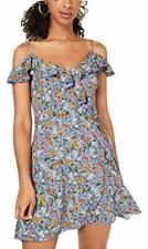 Teeze Me Womens Floral Mini Faux Wrap Wrap Dress Juniors BHFO 8246