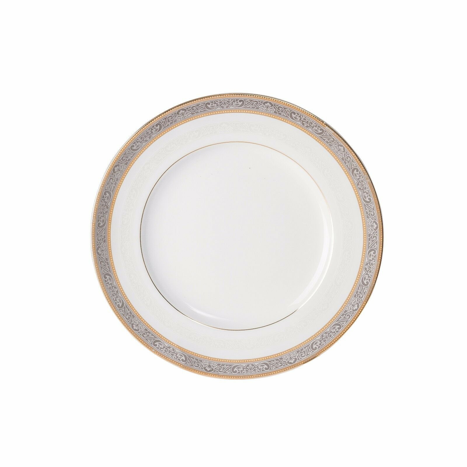 Brilliant - Royal D'oree Bread and Butter Plate 6.3  Set of 6 gold Platinum rim