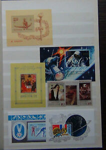 Russia-Miniature-sheets-MNH-Spartakiad-Space-Culture-Fund-set-amp-M-s-Olympics