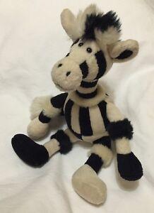 jellycat zebra small soft toy black cream plush comforter hugs