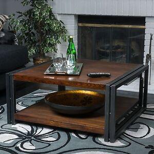 Contemporary Dark Oak Wood Coffee Table Ebay