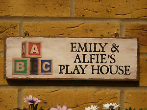 PERSONALISED-GARDEN-SIGN-KIDS-SIGN-PLAY-DEN-SIGN-PLAYHOUSE-WENDY-HOUSE-PLAY-AREA
