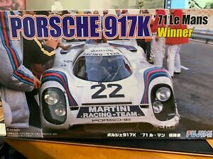 Fujimi 1/24 Model Kit  Martini Racing Porsche 917K '71 Le Mans Winner US Seller