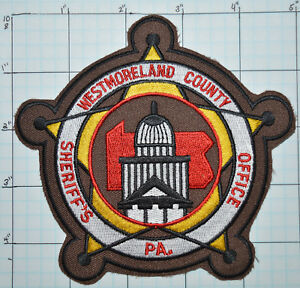 Details about PENNSYLVANIA, WESTMORELAND COUNTY SHERIFF'S OFFICE PATCH