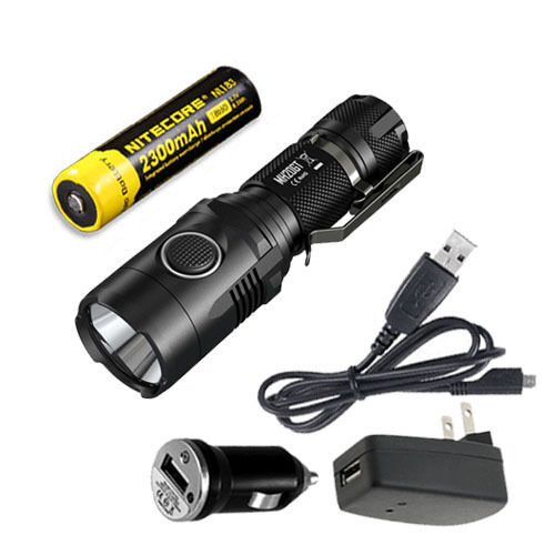 Nitecore MH20GT Rechargeable Rechargeable MH20GT Flashlight w/ NL183 Battery & USB Adaptors 50e23a