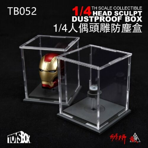 "1pc TOYS-BOX 1//4 Scale case Transparent Dustproof box Fit 18/"" Figure Head"