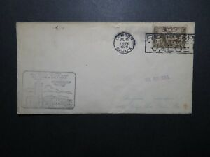 Canada-1929-London-to-Detriot-First-Flight-Cover-Z11230