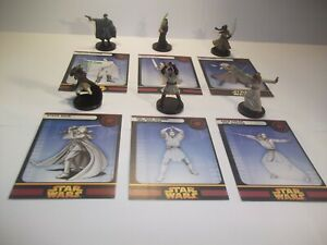 Star-Wars-Miniatures-Rare-Jedi-Lot-Cards-x6-Republic-Rares