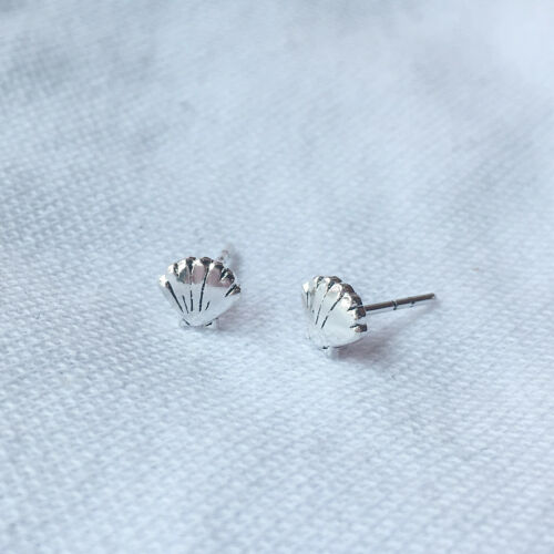 925 Sterling Silver Sea Shell Boucles d/'oreille coquillage Ocean Pétoncle nautique post