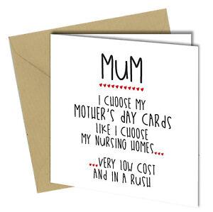 Image Is Loading 474 MOTHERS DAY BIRTHDAY Greeting Card Mum Nursing