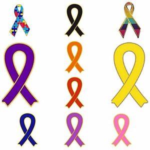 Ribbon-Awareness-Enamel-Lapel-Pin-Badges