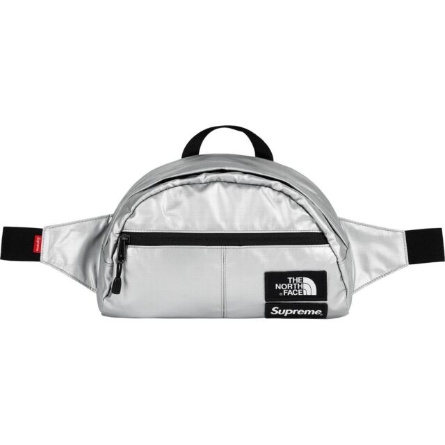 87e10df63 Supreme X The North Face Metallic Waist Bag Silver Ss18