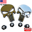 BUNDLE-Metal-Punisher-Decal-Sticker-Emblem-w-Matching-Wheel-Tire-Valve-Caps miniature 1