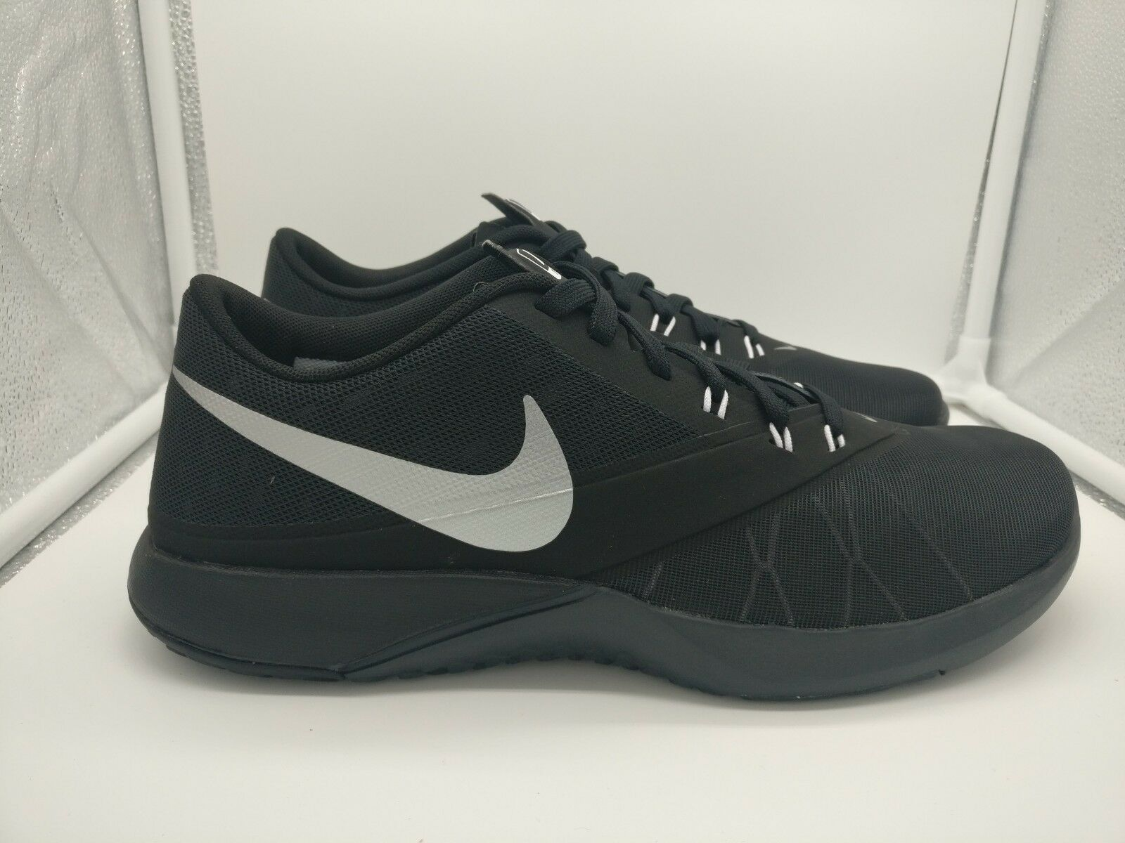 Nike FS Lite Trainer Silver 4 UK 11 Anthracite Metallic Silver Trainer 844794-001 4e13c2