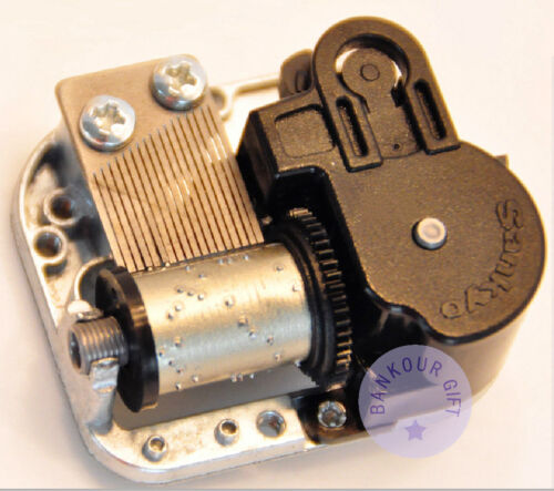 """Play /""""Love Story/"""" Melody Silver Plated Sankyo Musical Movement for DIY Music Box"""
