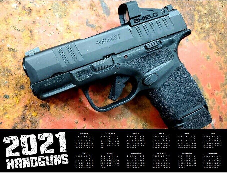 2021 HANDGUN DELUXE WALL CALENDAR glock 9mm pistol gun