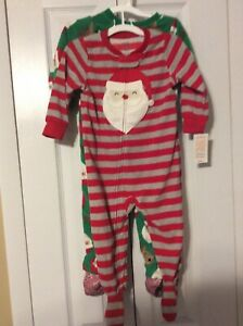 Carter/'s Just One You  Santa Holiday//Christmas Boys Sleeper Pajama