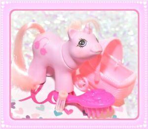 My-Little-Pony-MLP-1987-G1-VTG-Newborn-Twin-Sniffles-Pink-Hair-Baby-Mittens