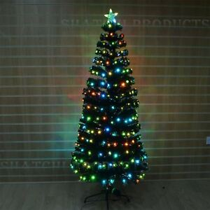 Image Is Loading 4ft Digital Pre Lit Fibre Optic Christmas Tree
