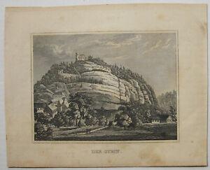 Berg-OYBIN-Originaler-Stahlstich-von-ca-1845