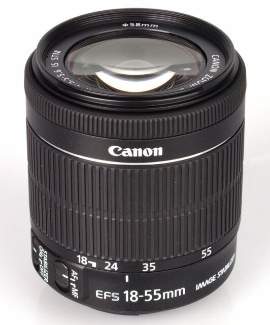 Brand New Original  Canon EF-S 18-55mm F4-5.6 IS STM White Box Black UK*us