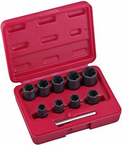 10pc-Twist-Nut-Socket-Set-Pro-Damaged-Broken-Bolt-Remover-Easy-Out-Extractor