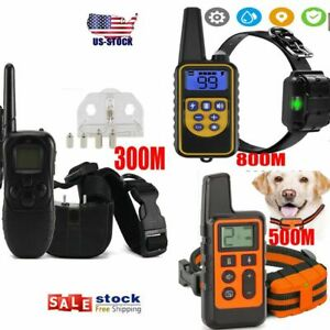 US Dog Shock Collar With Remote Electric For Large Small Pet Training 875 Yards