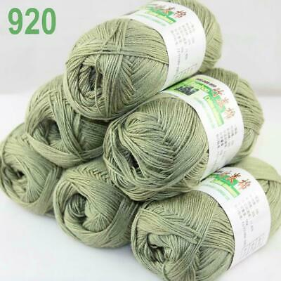 Sale 50g1Ball Soft Natural Bamboo Cotton Knitting Shawl Wrap Yarn ChristmasGreen