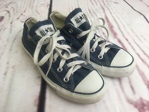 6ca2e99d870c Converse All Star Shoes Low Top Blue Unisex- Women s 6 Men s 4 M9697 ...