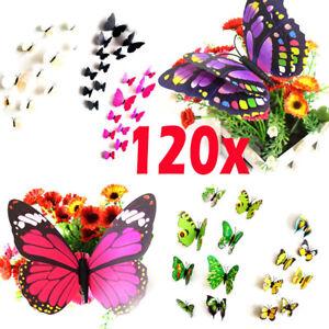 120-x-3D-Butterfly-Sticker-Art-Design-Vivid-Decal-Wall-Stickers-Home-Decor-Room