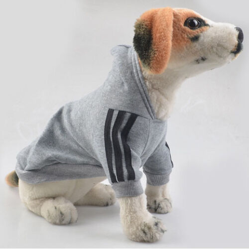 Pet Dog Coat Jacket Fall Winter Clothes Puppy Sweater Hooded Clothing Apparel UK 8