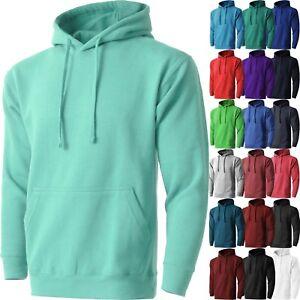 Mens-PULLOVER-HOODIE-Fleece-Shirts-Hooded-Tee-Sweatshirt-Heavy-Casual-Fashion