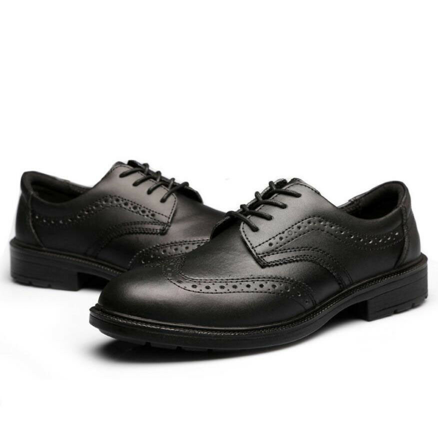 Mens Oxfords Safety Work shoes Steel Toe Cap Industrial Office Wing Tip Brogues