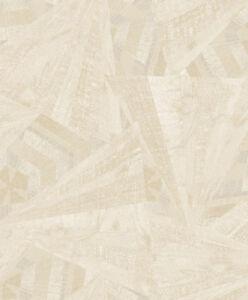 Tapete-Designtapete-VLIES-Praegung-Scherben-Glanz-Taupe-Creme-Sand