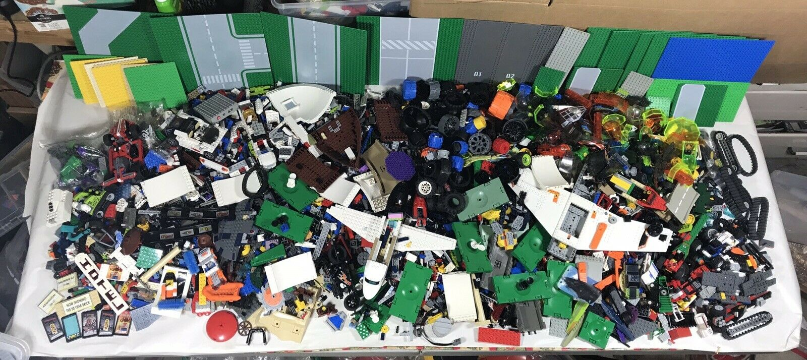 Lego Parts, Pieces And Baseboards Lot 32 Lb