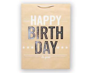 Image Is Loading Jumbo Happy Birthday To You On Kraft Gift