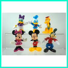 NEW Mickey Mouse Minnie Mouse Donald Duck Goofy Clubhouse Figures 6 pcs SET