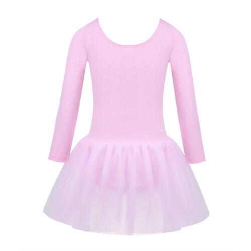 Girls Leotard Ballet Dress Gymnastics Unitards Skating Kids Dancewear Costume