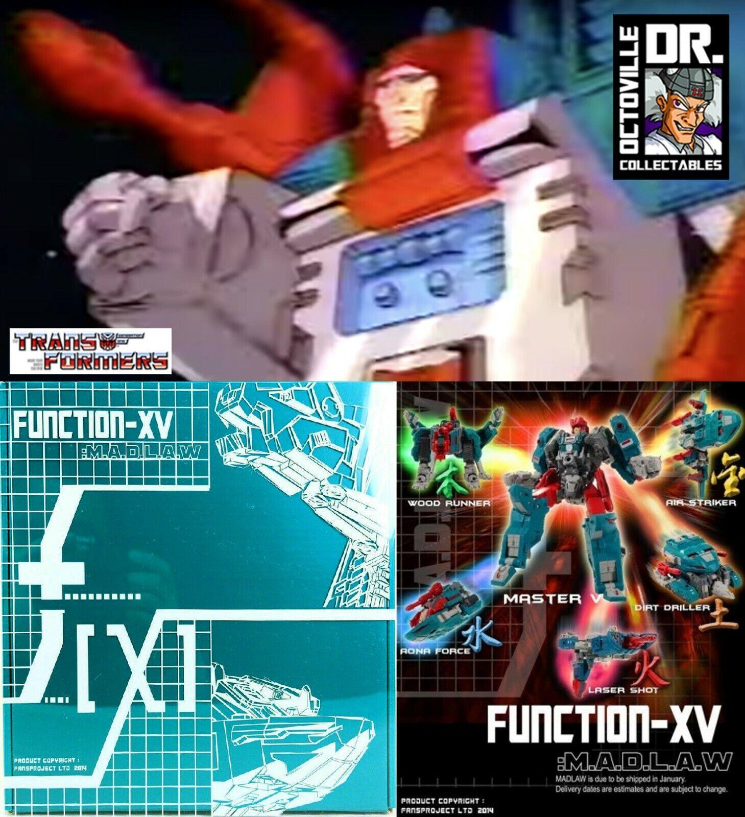 Transformers auténticas clásicas Fansproject función XV madlaw quickswitch Nuevo