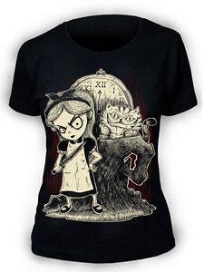 Afterlight-Alice-in-Wonderland-T-Shirt-Womens-Ladies-Goth-punk-rock-emo-fantasy