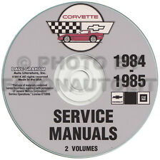 1984-1985 Corvette Shop Manual CD Repair Service Books on CD-ROM Chevrolet Chevy