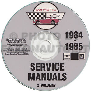 1984-1985-Corvette-Shop-Manual-CD-Repair-Service-Books-on-CD-ROM-Chevrolet-Chevy