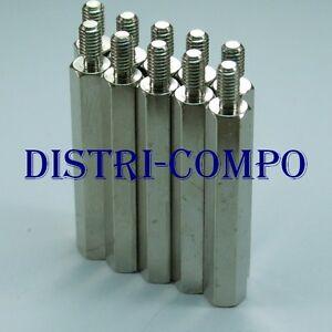 Entretoise métal mâle femelle M3 longueur 5-10 20-30mm lot de 40