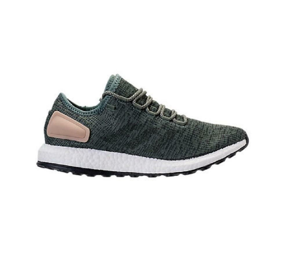 Mens ADIDAS PUREBOOST Green Running Trainers BA8903