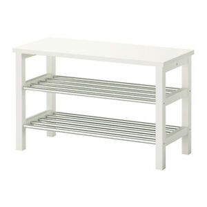 Ikea Tjusig Shoe Rack Storage White New 81x50 Cm Ebay
