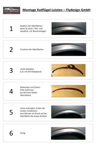 Radlauf carbon óptica 71cm Fender guardabarros para Subaru Forester carrocería Tuning