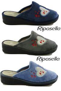 Ciabatte pantofole donna Riposella invernale tessuto 2870