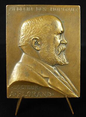 Sensato Médaille Docteur A Florand Anatomie Anatomy Prud'homme 1920 Médecine Medic Medal Aliviar El Calor Y La InsolacióN
