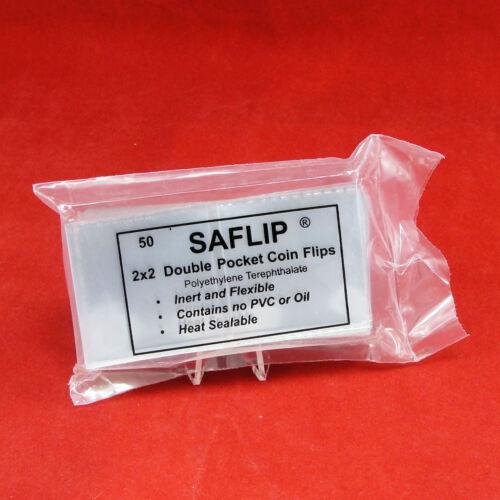 Saflip 2x2 Double Pocket Coin Flips Pack of 500 10 packs of 50 Saflips